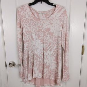 Peruvian Connection Floral Pima Cotton Blouse M